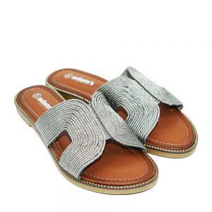 Adam's pantofles 822-20021-26 gkri pewter SS20